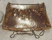 Vintage 1970s Gold Sequin Pouch Purse Evening Shoulder Bag Handbag Purse