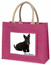 Scottie Dog /'Love You Mum/' Large Black Shopping Bag Christmas Pres AD-ST2lymBLB
