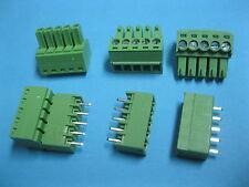 200 pcs Pitch 3.5mm 5way/pin Screw Terminal Block Connector Green Pluggable Type