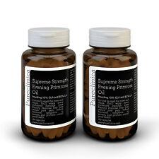 Aceite de onagra 1000 mg Fuerza Suprema. 12 meses de suministro  (2 botellas)