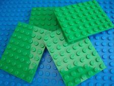 Lego 8x6 Green Base Plates City Town Grass Castle Endor