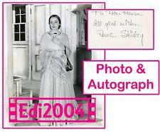 ANNE SHIRLEY Vintage Original LINEN BACK 1941 RARE Photo & AUTOGRAPH CARD