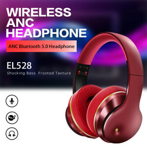 Wireless Headphones Bluetooth Headset Stereo Noise Cancelling Over Ear Foldable