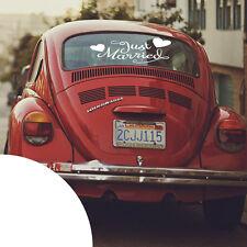 Just Married ✔ Auto Aufkleber für die Heckscheiben ✔ Hochzeit Sticker ✔ XXL ✔