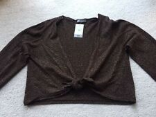 M&S Gold Sparkly Tie cardigan.  Size 10.  RRP £25