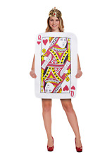 Adults Ladies Queen of Hearts Costume Alice Playing Cards Fancy dress Book Week