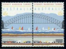 Australia (Scott 1296A-B) - 1992 Opening Of Sydney Harbor Tunnel (Pair) - Mnh