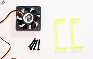 HP P420 SATA RAID SAS Card Cooler 50mm Cooling Fan, Mount Bracket Clip & Screws