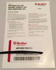 New McAfee Antivirus Plus 2014 Full Version Key Card Windows (3 User)