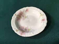 "Antique Theodore Haviland Limoges France PINK FLORAL Tiny 3"" Butter Pat Dish"
