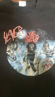 Slayer Live Undead 2004 Rock/Heavy Metal Shirt Hanes Heavyweight Black XL