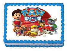 """PAW PATROL  Edible image Cake topper  -75""""x10"""""""