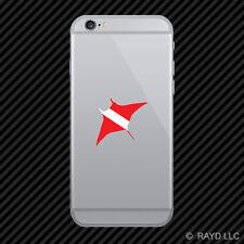 Manaray Dive Flag Cell Phone Sticker Mobile scuba shaped
