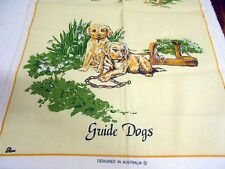 Vintage Souvenir Teatowel 'The Guide Dogs for the Blind ' Linen/Cotton Brand new
