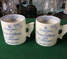 Two BURLEIGH Asiatic Pheasants Prince William & Catherine Royal Wedding Mugs