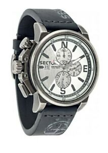 New SECTOR 450 R3271776008 Chronograph Men's Leather Steel Watch