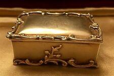ANTIQUE GORHAM STERLING SILVER STAMP BOX