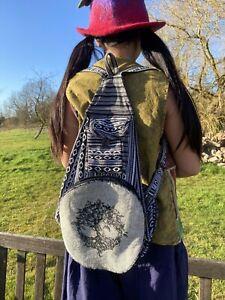 Tree of Life Fold Away Backpack With Belt Loop Hippy Boho Festival - UK SELLER