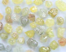 Natural Loose Diamond Rough Raw Shape Yellow Mix Color I3 Clarity 50 Pcs Lot K12