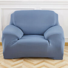 Stretch Sofa Slip Over Couch Settee Fit Covers Elastic Fabric Protector 2 Seater(145-185cm) Gray Blue ( as Picture Show )