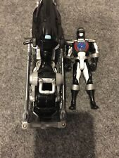 Power Rangers Operation Overdrive 2006 Black Helio Hovertek Motorcycle with Figu