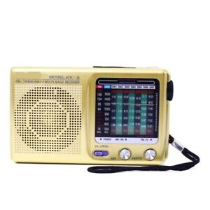 Receptor radio de canal mono FM estéreo / MW / SW1-7 portátil de banda completa