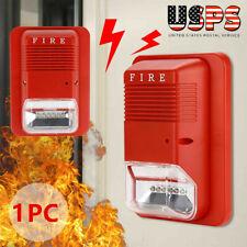 Sound Amp Light Alert Safety System Sensor Fire Alarm Warning Strobe Siren Horn Us