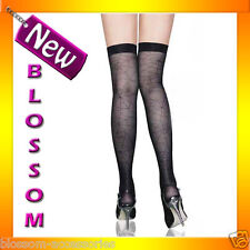 7817 Black Spider Web Thigh Highs Stockings Halloween Costume