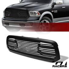 For 2013-2019 Dodge Ram 1500 Matte Black Big Horn Front Hood Bumper Grill Grille