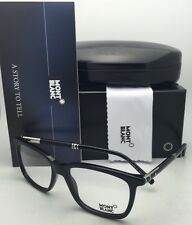 a02ad4ca878 New MONTBLANC Eyeglasses MB 489 001 56-17 145 Shiny Black Frames w Clear