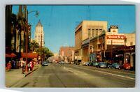 Hollywood CA, Hollywood Boulevard, Hotel, Chrome California Postcard