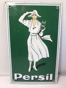 Old 1960's Persil Enamel Advertising Sign
