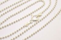 """Taxco,Mexican 925 Sterling Silver,1.5 mm Bead/Ball Chain Necklace. 16""""-27.5"""""""