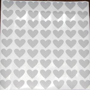 63 Pcs Heart Scratch Off Labels Sliver Sticker Secret for Game Favor Wedding DIY