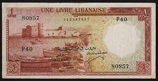 1 Livre >>> 1952 <<<  Chamoun  Liban Lebanon Beirut  .......(43a)