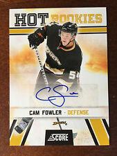 2010-11 Cam Fowler Score Hot Rookies Auto Anaheim Ducks Rookie Autograph