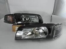 96-02 Mirage Evolution Evo4 IV 4 Black Head Light Black Corner Mirage Headlights