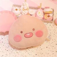 Cute Peach Throw Pillow Soft Plush Peach Cushion Fruit Soft Decorative Pillows