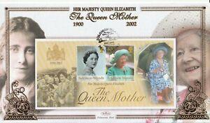 SOLOMON ISLANDS 2002 THE QUEEN MOTHER MINIATURE SHEET BENHAM FIRST DAY COVER SHS