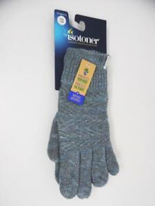 Isotoner Women's Recycled Knit Gloves - Blue - One Size WMN 1SZ