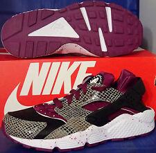 Womens Nike Air Huarache Run Snake Print iD Mulberry Black SZ 7 ( 777331-993 )