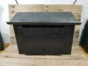 Vintage Large Steel Old Rustic Farm Rural Mailbox Heavy Home Made Hand Made