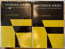 "2 Vol Set ""Fourier Series: A Modern Introduction"" R.E. Edwards 1967 1st Ed W/ DJ"