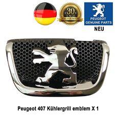 Peugeot 407 Emblem Logo Chrom Grill Kühlergrill Kombi Löwen-Logo 7810K8 Neu