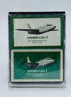 Vintage Aviation Midwest Federal Advertising RediSlip Playing Cards 2 Sealed Dec