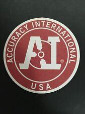 Accuracy International Sniper Rifle - Gun TARGET / Coaster/ Logo Decal Sight