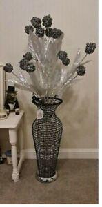 LED Flower Vase Aluminium Wired Large Table Desk Floor Lamp Modern 140cm