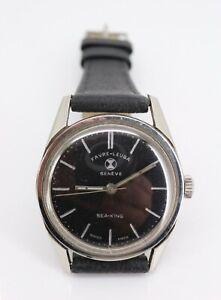Superb Favre Leuba Sea King Mechanical Black Dial Watch c1965. #61093 T. NICE1