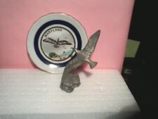 "Small 3.5"" Ceramic Plate with flying Eagle (Maryland) (Sold only a plate!)"