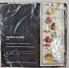 "MONARCH HORIZONS TROPICAL FISH COUNTED CROSS STITCH KIT #CS34 6"" x 24"" ST27"